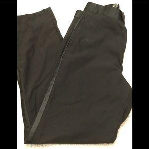 WILKE RODRIGUEZ Black Tuxedo Pants Wool Blend